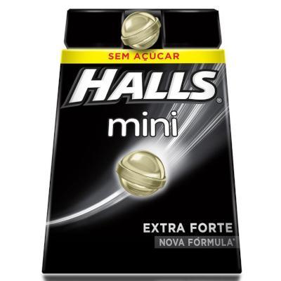 Bala sabor extra forte sem açúcar mini 18 unidades Halls caixa CX
