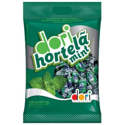 Bala sabor hortelã mint 150g Dori pacote PCT