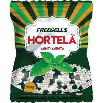 Bala sabor Hortelã 584g Freegells pacote UN