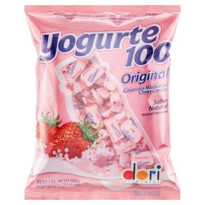 Bala sabor iogurte 600g Iogurte 100/Dori pacote PCT