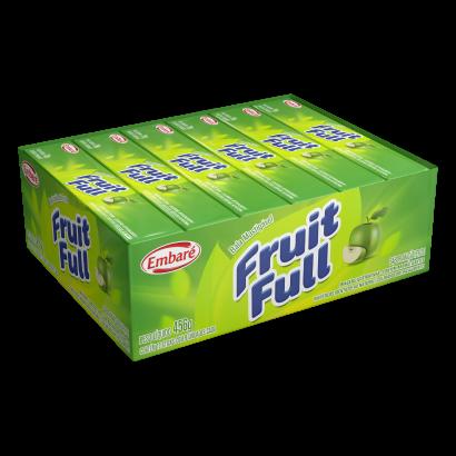 Bala sabor maçã verde 12 unidades Embaré/Fruit Full caixa CX