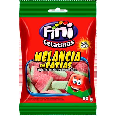Bala sabor melancia pacote 90g Fini Fatias PCT