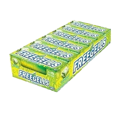 Bala sabor melão caixa 12 unidades Freegells CX
