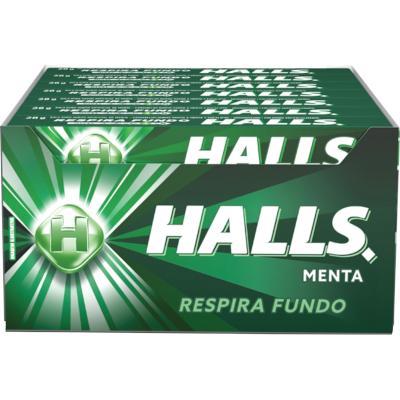Bala sabor menta caixa 21 unidades Halls CX