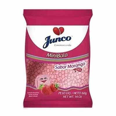 Bala sabor morango mini 60g Junco pacote PCT