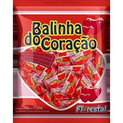 Bala sabor morango 500g Florestal pacote PCT
