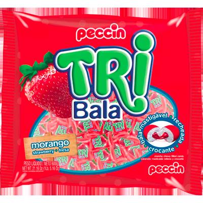 Bala sabor morango 500g Tribala/Peccin pacote PCT