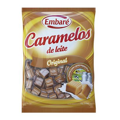 Bala sabor original 660g Embaré/Caramelos de Leite pacote PCT