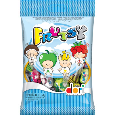 Bala sabor sortidas frutsy 150g Dori pacote PCT