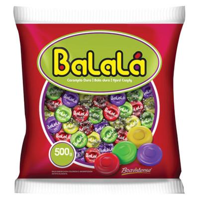 Bala sabor sortidas 500g Balalá/Boavistense pacote PCT