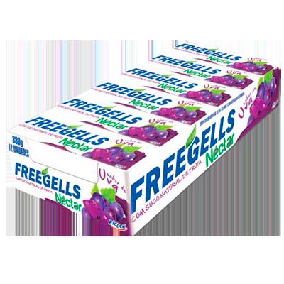 Bala sabor uva 12 unidades Néctar/Freegells caixa CX