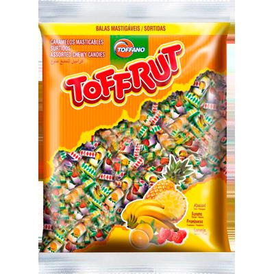 Bala sabores sortidos pacote 250g Toffano/Toffrut PCT