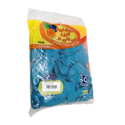 Balão azul claro 50 unidades São Roque pacote PCT