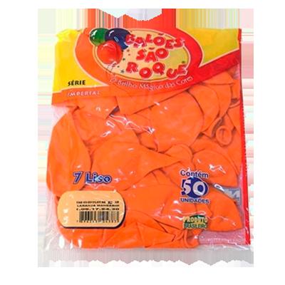 Balão laranja claro 50 unidades São Roque pacote PCT