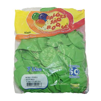 Balão maçã verde pacote 50 unidades São Roque PCT