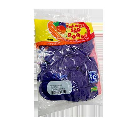 Balão roxo uva pacote 50 unidades São Roque PCT