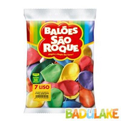 Balão sortidos 50 unidades São Roque pacote PCT
