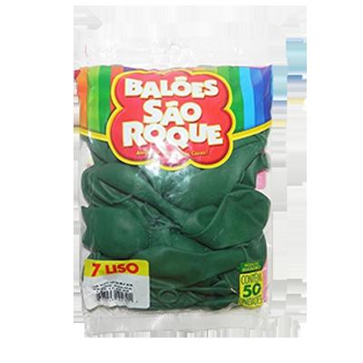 Balão verde folha pacote 50 unidades São Roque PCT