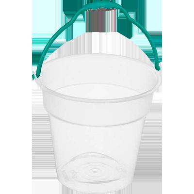 Balde plástico transparente capacidade 10 litros unidade Rainha  UN