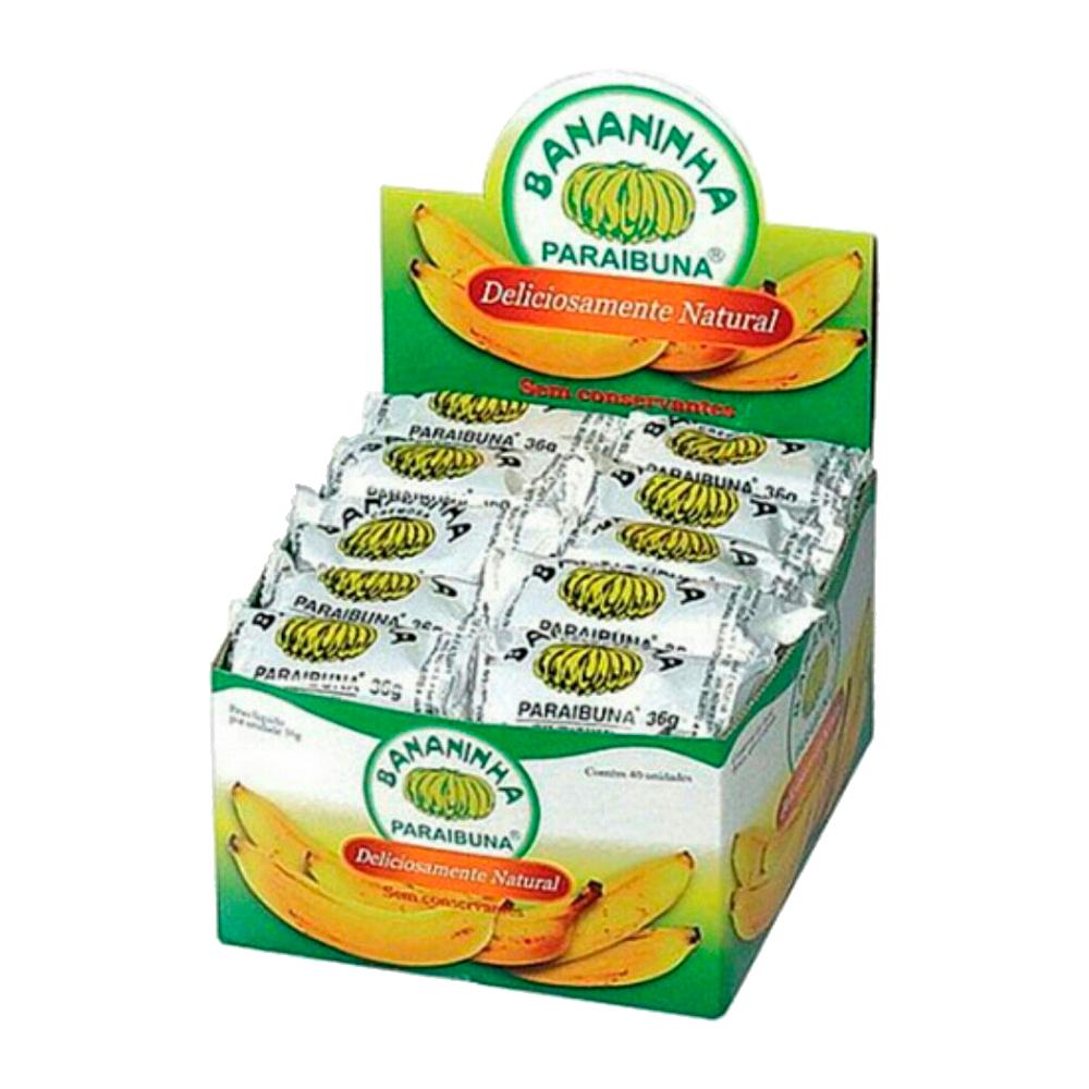 Bananinha  40 unidades de 36g Paraibuna caixa CX