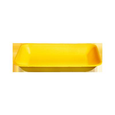 Bandeja de isopor funda amarela 235x180x24 caixa 400 unidades Copobras CX