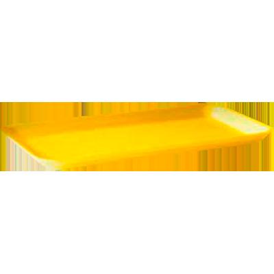 Bandeja de isopor rasa amarela 210x140x16 400 unidades Copobras caixa CX