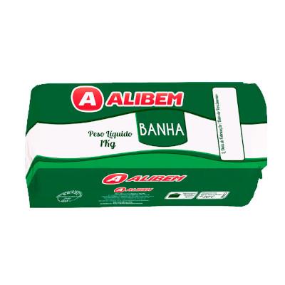 Banha Suína  1kg Alibem pacote PCT