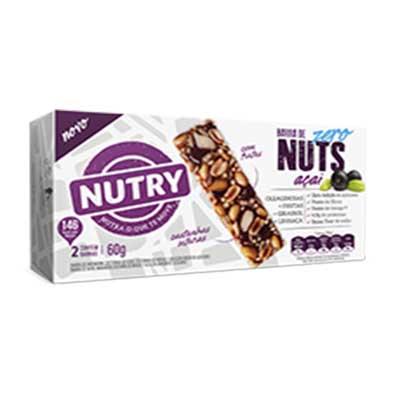 Barra de cereais nuts açaí zero caixa 2 unidades de 30g Nutry CX