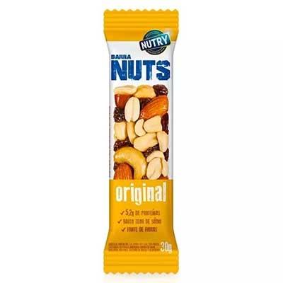 Barra de Cereais Nuts original 12 unidades de 30g Nutry caixa CX