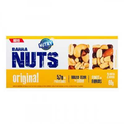 Barra de Cereais Nuts Original 2 unidades de 30g Nutry caixa CX