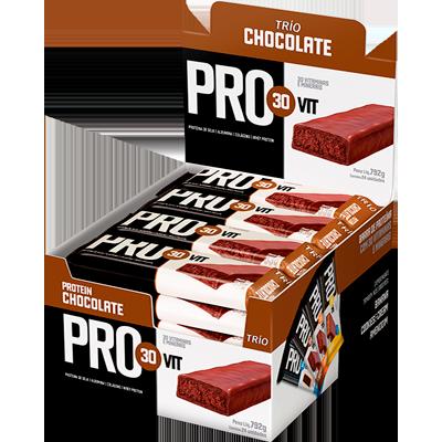 Barra de Cereais Provit Chocolate 24 unidades de 33g Trio Nut's caixa CX