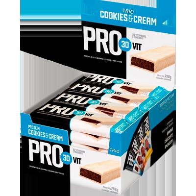 Barra de Cereais Provit Cookies 24 unidades de 33g Trio Nut's caixa CX