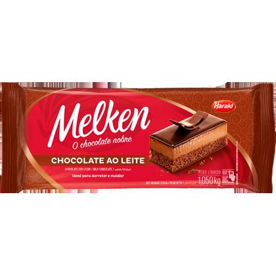 Barra de chocolate ao leite 1kg Harald/Melken  UN