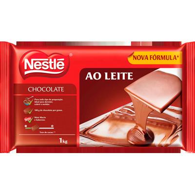 Barra de chocolate ao leite 1kg Nestlé  UN