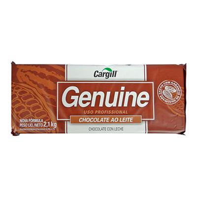 Barra de chocolate ao leite 2,1kg Genuine  UN