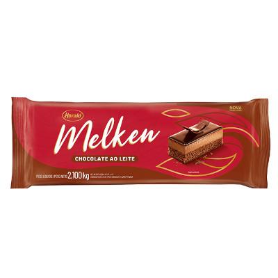 Barra de chocolate ao leite 2,1kg Harald/Melken  UN