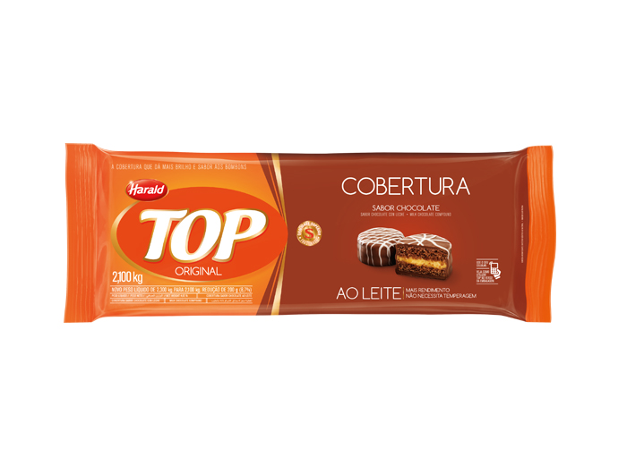 Barra de chocolate ao leite 2,1kg Harald/Top  UN