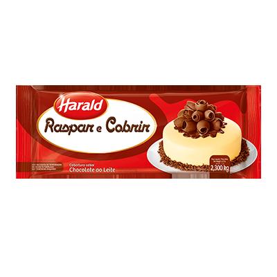 Barra de chocolate ao leite 2,1kg Raspar e Cobrir/Harald UN