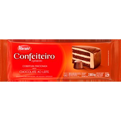 Barra de chocolate ao leite 2,3kg Confeiteiro/Harald UN