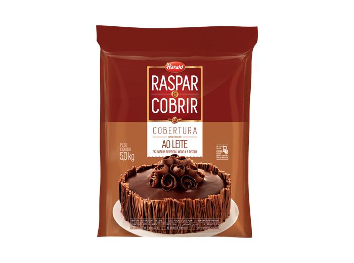 Barra de chocolate ao leite 5kg Raspar e Cobrir/Harald  UN