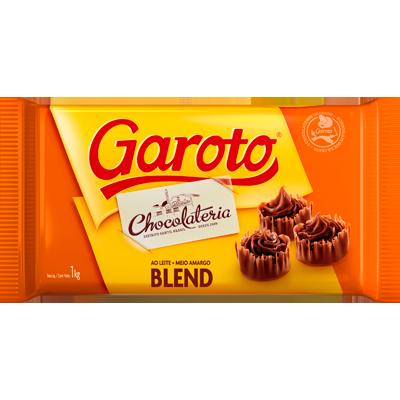 Barra de chocolate blend 1kg Garoto UN