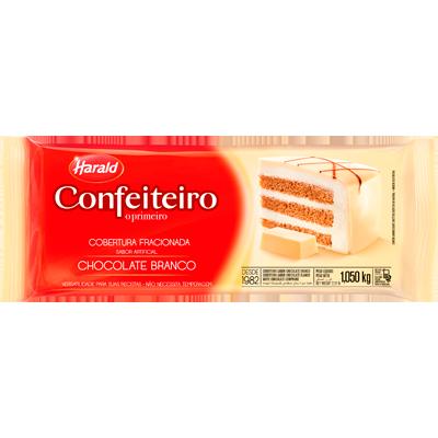 Barra de chocolate branco 1kg Confeiteiro/Harald  UN