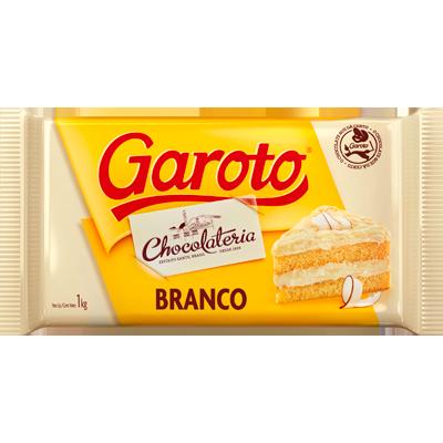 Barra de chocolate branco 1kg Garoto  UN