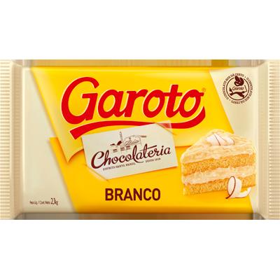 Barra de chocolate branco 2,1kg Garoto  UN