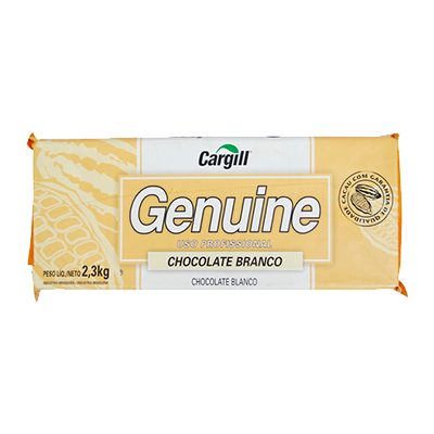 Barra de chocolate branco 2,1kg Genuine UN
