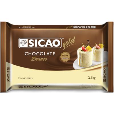 Barra de chocolate branco 2,1kg Sicao Gold  UN