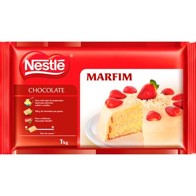 Barra de chocolate branco marfim 1kg Nestlé  UN