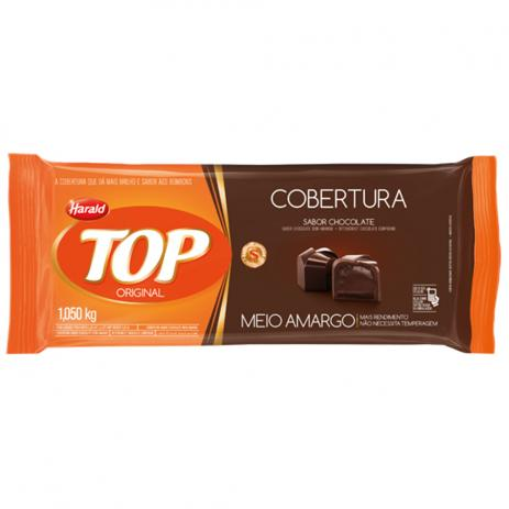 Barra de chocolate meio amargo 1,050kg Harald/Top UN