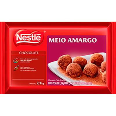 Cobertura de chocolate meio amargo 2,1kg Nestlé  UN