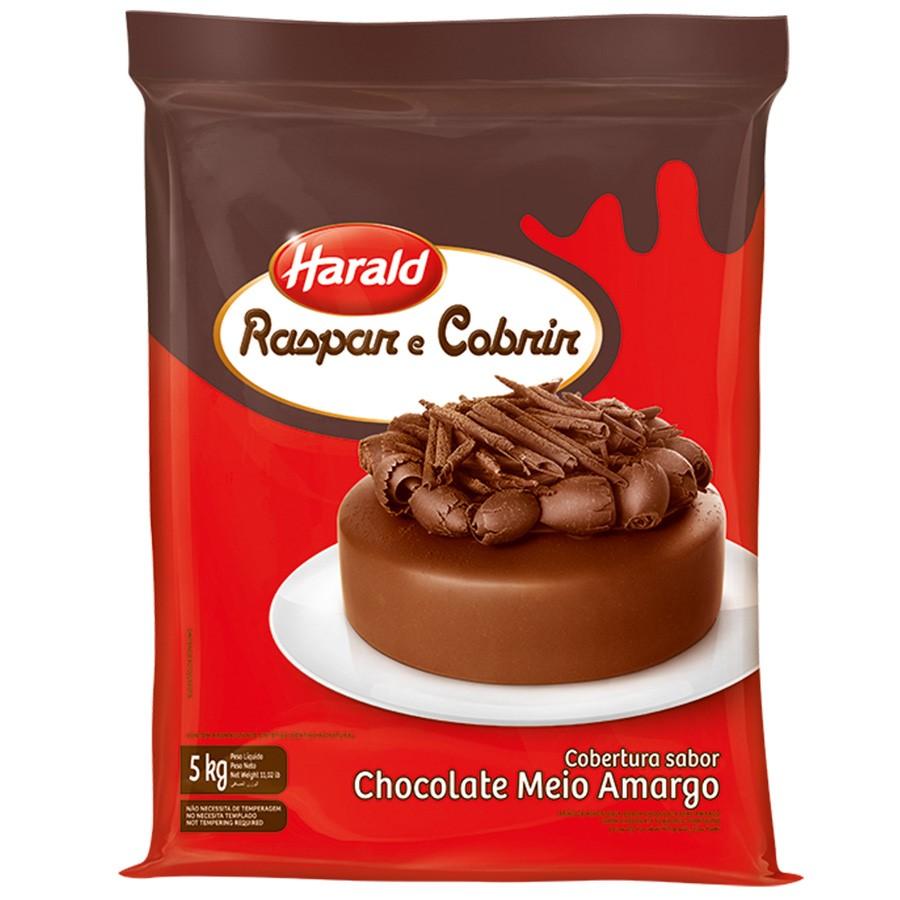Barra de chocolate meio amargo 5kg Raspar e Cobrir/Harald  UN